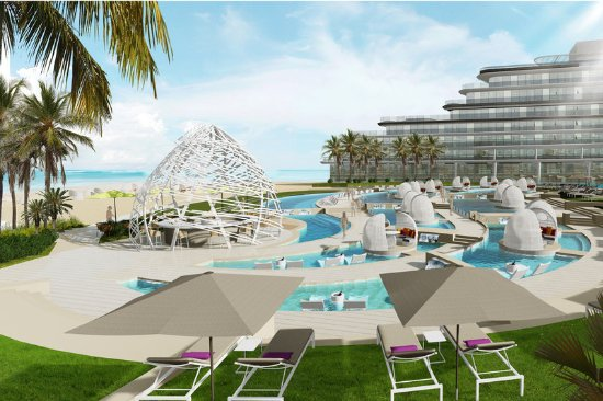 Dubai Palm Hotel: WET Deck - Rendering