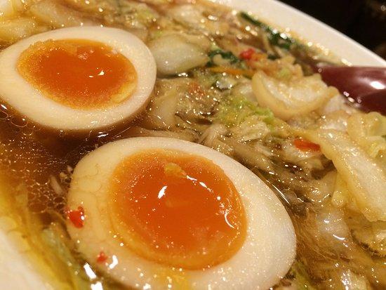 Tenri, Japan: 彩華ラーメン(小)/生卵&煮玉子