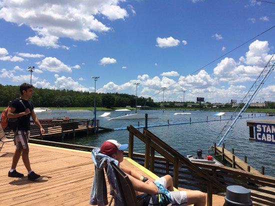 Orlando Watersports Complex : Sun bathing