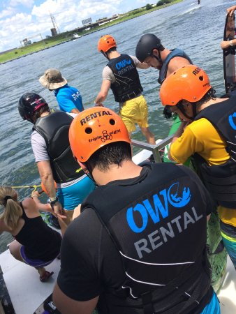 Orlando Watersports Complex : Safety vest helmets and boots