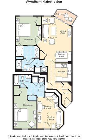 Wyndham Vacation Resorts Majestic Sun: Majestic Sun Floor Plan