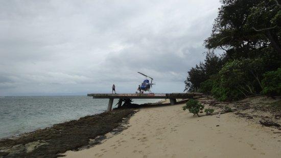 Green Island Resort: Helipad on the beach