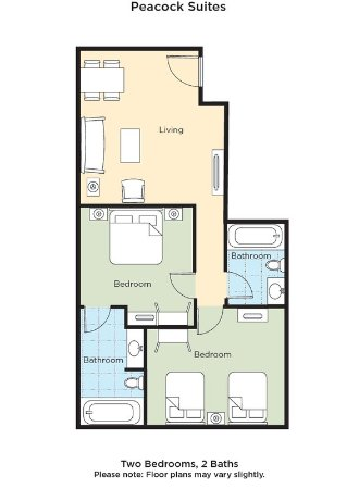Peacock SuitesFloor Plan
