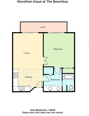 Kauai Coast Resort at the Beachboy Floor Plan