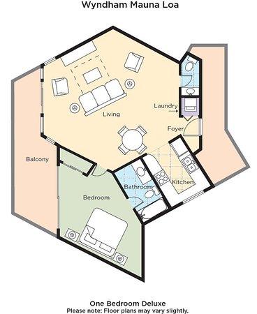 Wyndham Mauna Loa Village Floor Plan