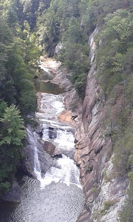 Tallulah Falls, GA: The top waterfall - the easiest to go see but not the prettiest!