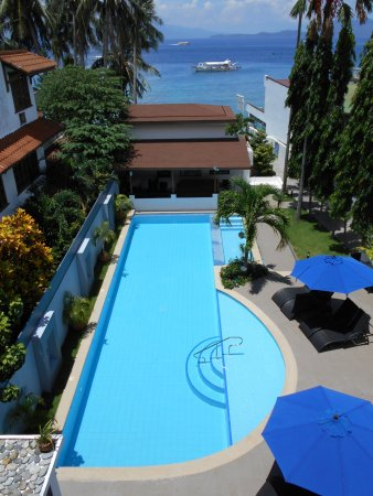 Out of the Blue Resort: View from The Verandah restaurant and SeaView Suites