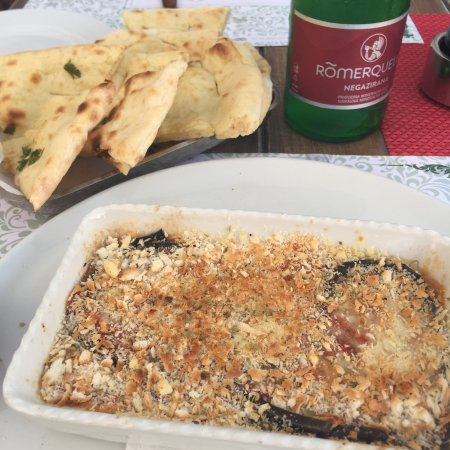 Poklisar: Excellent eggplant Parmesan and beautiful views