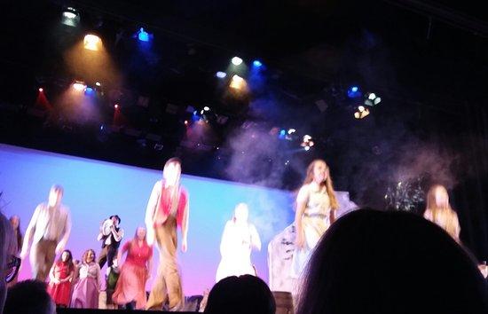 Siamsa Tire National Folk Theatre: Termine spettacolo, gli applausi dei turisti.