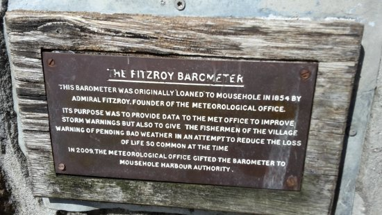 Mousehole, UK: Fitzroy Barometer