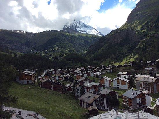 Glacier Express: One small village on the way to Zermatt