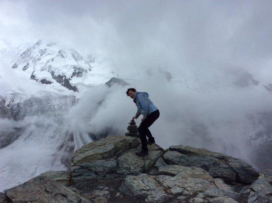 Glacier Express: On top of Mt Gornegrat