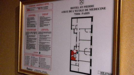 Hotel Saint Pierre: Plan einer Etage