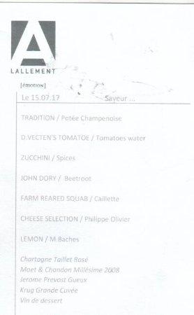 L'Assiette Champenoise: Tasting menu