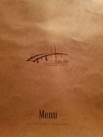 Cau Go Vietnamese Cuisine Restaurant: The menu