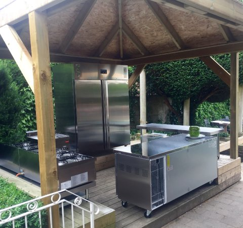 Westerlo, Belgium: Outdoorkitchen