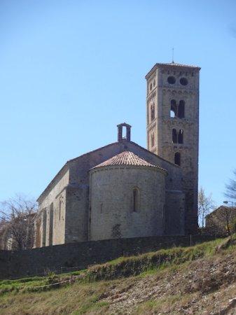Mollo, Hiszpania: Església de Santa Cecilia, Molló (Ripollès, Gérone, Catalogne), Espagne.