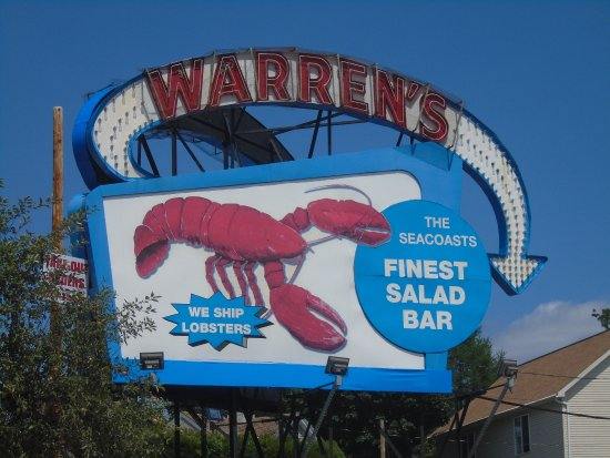 ‪‪Kittery‬, ‪Maine‬: the sign for Warren's Lobster House‬