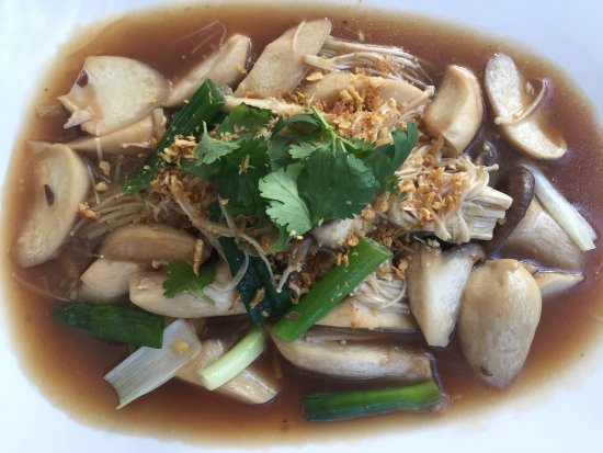 Golden Beach, Australia: assorted mushroom stir fry