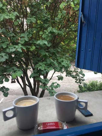 Hotel Castel Fleuri: Coffee early in the morning, room view