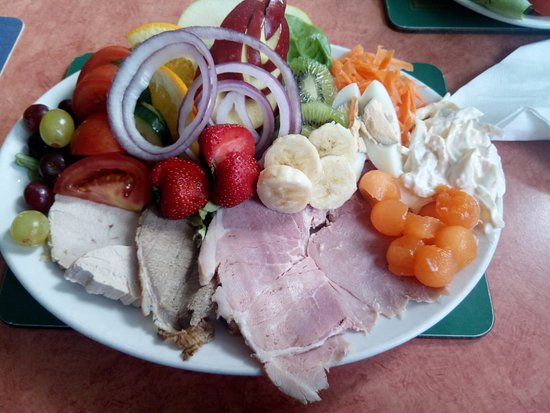 Cleator, UK: mixed meat salad...