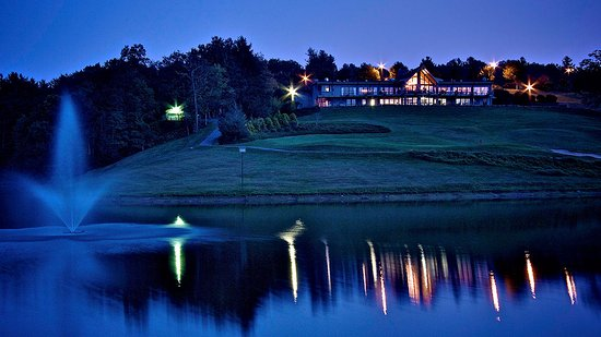 Roaring Gap, NC: Clubhouse at night