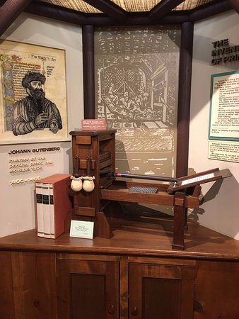 Waxhaw, Carolina del Norte: Model of Guttenburg press