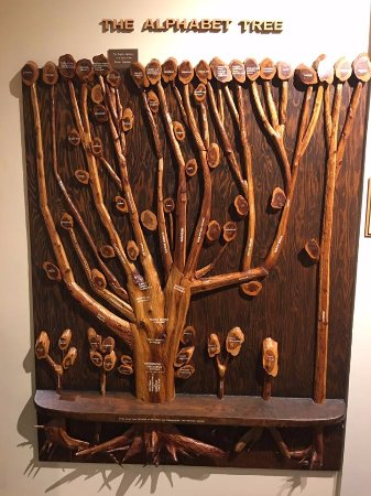 Waxhaw, Carolina del Norte: Alphabet Tree starts your journey through the museum.