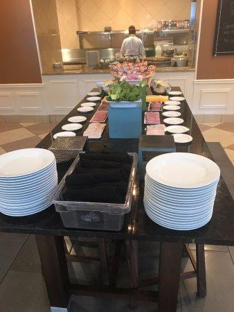 Hilton Garden Inn Houston Energy Corridor Banquet Lunch Buffet The Two Beds Room