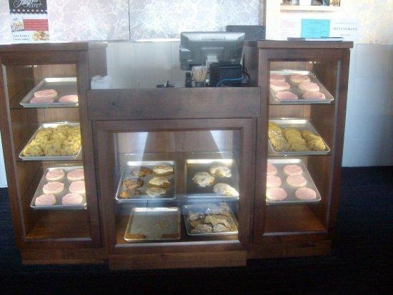 Baked goods display, Hug-Hes Cafe, North Ogden, UT