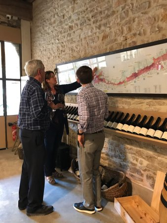 Saint-Nicolas-les-Citeaux, Francia: Some photos of Stephanie teaching us about the region and of the different winemakers we met alo
