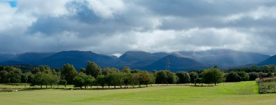 Aviemore, UK: View of the Cairngorms from the Clubhouse