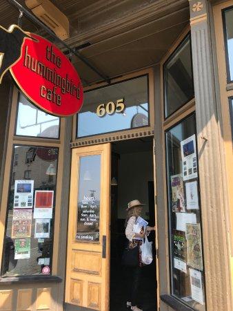 Butte, MT: Hummingbird Cafe Entrance