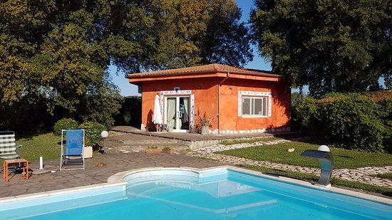 Cave, Italia: piscina e ristorante