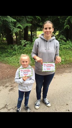 Go Ape: My girls collecting their certificates
