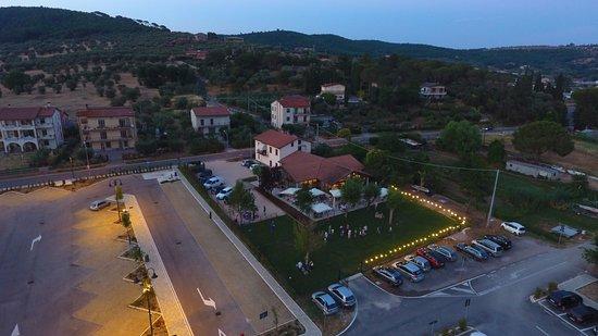 San Feliciano, Italien: Vista Drone al tramonto