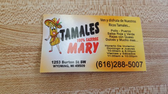 Wyoming, MI: Tamales Mary