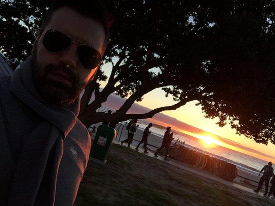 Camps Bay, Sudáfrica: Por do sol em Camp's Bay em Cape Town