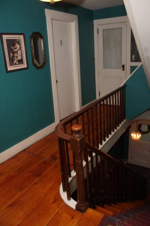 Bethel, ME: Upstairs hallway.