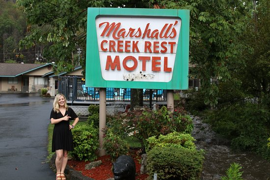 Marshall's Creek Rest Motel: Adorable sign.