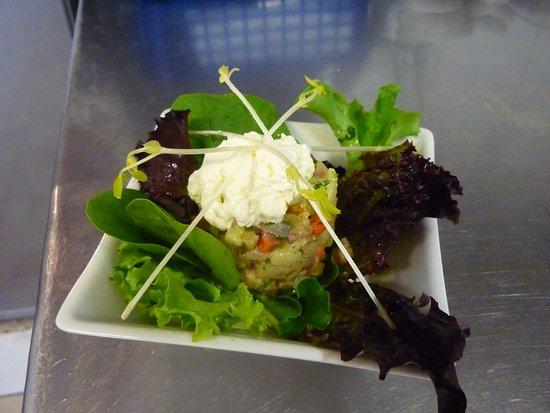 Restaurant de l'hôtel le Laurier : salade de hareng
