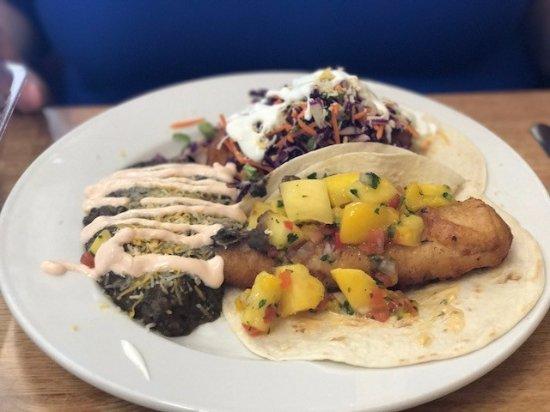 Tioga Gas Mart & Whoa Nellie Deli: Fish tacos (two ways)