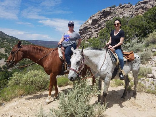 Taos County, NM: Kristin and I with Duke and Santana.