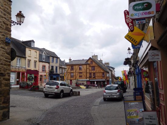 Normandy Town & Country: Street scene, Domfront.