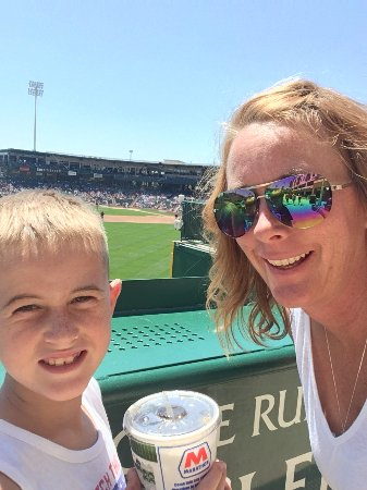 Fort Wayne, IN: Sully and Mom on a beautiful day for some baseball