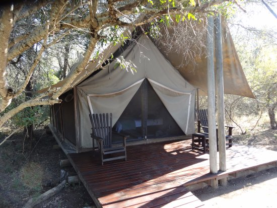 Skukuza, Sydafrika: the tents were luxurious