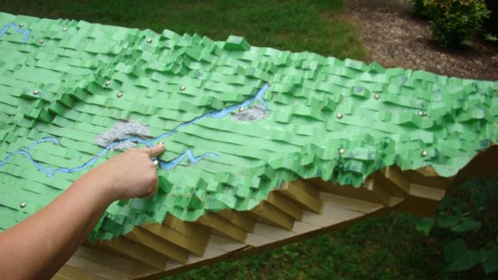 Panther Creek State Park: tactile map of Tennessee