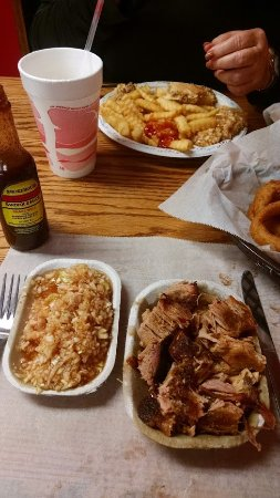 Our tasty Lexington Barbecue meal