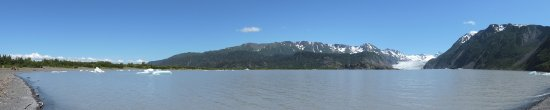 Kachemak Bay State Park: Grewingk Lake and Grewingk Glacier Panoramic