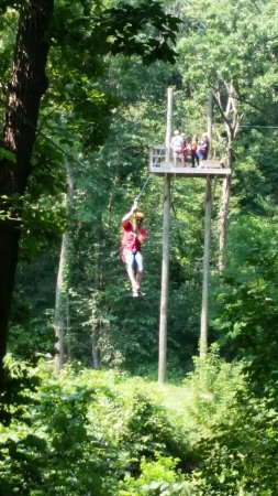 Sky Tours at YMCA Union Park Camp: 45 foot tower